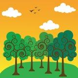 Floresta na manhã Imagem de Stock