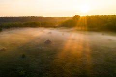 Floresta na n?voa no nascer do sol Vista do zang?o imagens de stock royalty free