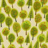 Floresta sem emenda bonito do teste padrão Fotografia de Stock Royalty Free