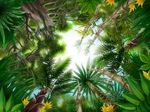 Floresta tropical ilustração royalty free