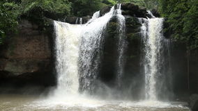 Floresta tropical de Haew SU Wat Waterfall video estoque