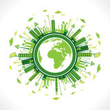 Floresta verde criativa do painel solar Imagem de Stock