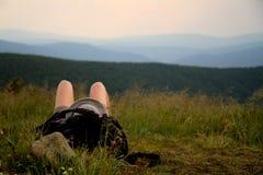 Florestas e montanhas em Bieszczady Imagem de Stock