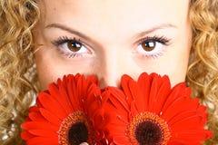 Florezca el ojo fotografía de archivo