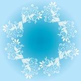 Florezca el vector decorativo del marco del diseño ilustración del vector