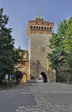 Florian�s Gate in Krakow, Poland Stock Images
