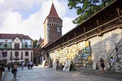 Florian brama w mieście Krakow w Polska obraz stock