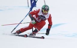 Florian Eisath  2015 World Cup in Meribel Royalty Free Stock Photography