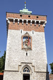 Florian Gate in Old Town, Krakow, Poland Stock Photos