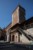 The Florian Gate  part of the fortifications of Krakow that remain now in the city Stock Photo