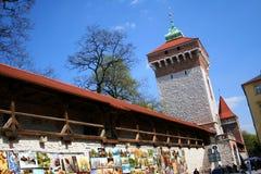 Florian gates, Barbakan. Krakow. Poland. Stock Photo