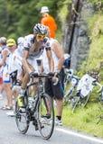 Florian Guillou op Col. du Tourmalet - Ronde van Frankrijk 2014 stock afbeeldingen