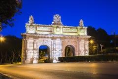 Floriana, Μάλτα - νωρίς το πρωί στην πύλη Floriana Στοκ Εικόνα