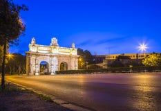 Floriana, Μάλτα - νωρίς το πρωί στην πύλη Floriana Στοκ Φωτογραφίες