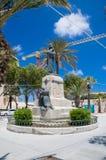 Floriana Malta - Maj 10, 2017: Kristus konungen Monument i Floriana Near Valletta Royaltyfri Foto