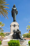 Floriana Malta - Maj 10, 2017: Kristus konungen Monument i Floriana Near Valletta Royaltyfri Fotografi