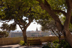 Floriana and Upper Barrakka Gardens, Vallettta Stock Image