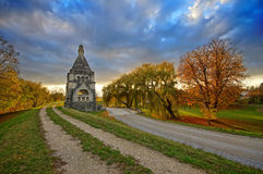 Florianikapelle Markthof, Austria. In autumn afternoon Royalty Free Stock Photography