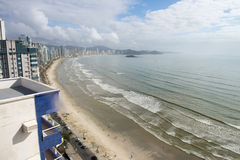 Florianopolis, Brazil. Balneário Camboriú is a major beach resort in the Brazilian southern state of Santa Catarina. The town, with its steep hills dropping stock photo