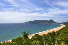 Florianopolis Brazil. Florianopolis beach, blue sky on summer Royalty Free Stock Image