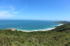Florianopolis, Brazil. Magnificent view over Galheta's beach in Florianopolis, Santa Catarina, Brazil stock image