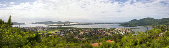 Florianopolis from high angle view. Panoramic Royalty Free Stock Photo