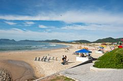 Joaquina Beach in Florianopolis stock photography