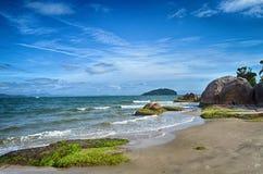 Florianopolis, a praia Jurere, Brasil imagem de stock royalty free