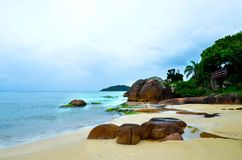 Florianopolis, a praia Jurere, Brasil imagem de stock