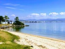 Florianopolis, spiaggia di Santa Catarina del Brasile immagini stock libere da diritti