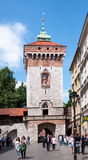 Florian's Gate in Krakow, Poland Stock Photography