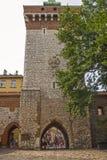 Florians Tor, Krakau, Polen Stockfotos
