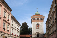 Florianska Gate in Krakow Royalty Free Stock Photos