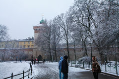 Florianska Gate in Krakow Royalty Free Stock Photography