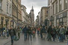 Florianska Street In The Evening. Stock Photo