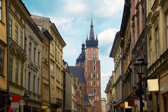Florianska street, Krakow, Poland Stock Photo