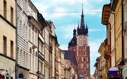 Florianska street in Krakow Poland Royalty Free Stock Image