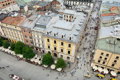 Florianska street in Old town of Krakow Royalty Free Stock Image
