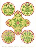 Floriated Ornaments Plate 25 Royalty Free Stock Photos