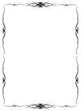 Florid framework. Of black colour on the white Stock Image