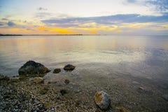 florida пользуется ключом заход солнца Стоковое Изображение RF