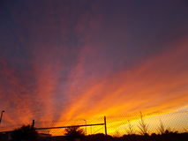 Florida-Abendsonnenuntergang-Feuerhimmel Lizenzfreie Stockfotos