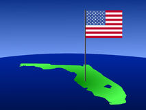 Florida with American Flag Royalty Free Stock Photo