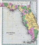 florida antykwarska mapa Zdjęcia Royalty Free