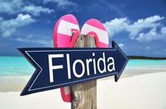 Florida arrow. On the beach Stock Photography