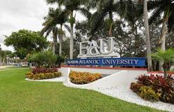 Free Florida Atlantic University Entrance Sign Royalty Free Stock Photos - 169229398