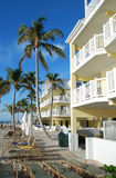 Florida Beach. Exterior of wooden beach houses in Key-West, Florida, USA Royalty Free Stock Photos