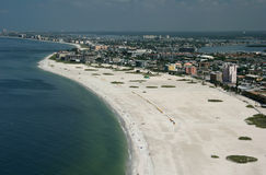 Florida Beach. Aerial view of St. Pete Beach, Florida Royalty Free Stock Photos