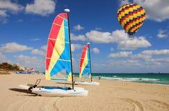 Florida beach. Leisure sports activities on a tropical beach in South Floirida stock image