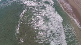 Florida beach from above stock video footage
